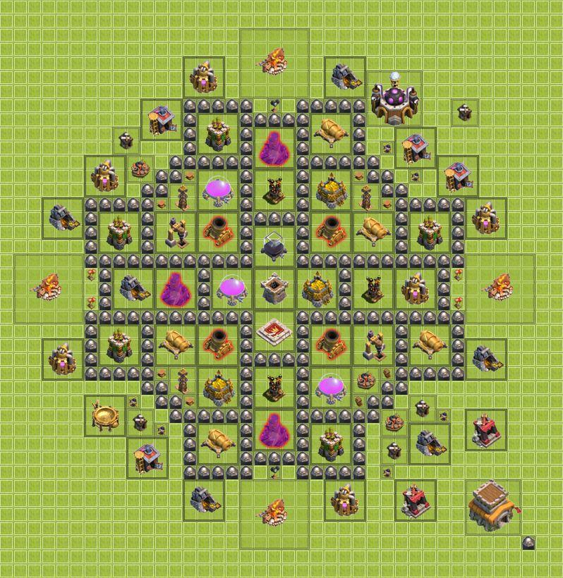 могут, карта для сос для 7 уровня ратуши квадратный Вся
